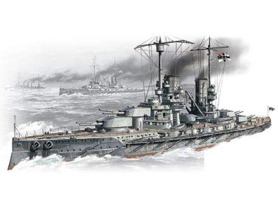 ICM 1/350 Scale König, WWI German Battleship - Plastic Model Building Kit # S.001