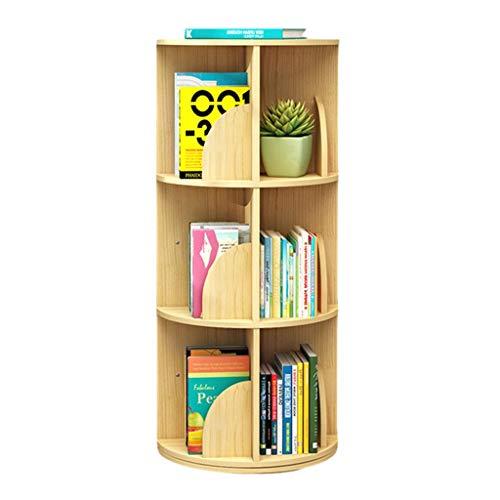 Bibliothèques Tournante, Rotative Créative À 360 ° Étagères À Démontage Simple Étagère d'angle Simple...