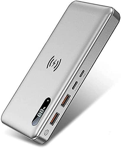Tcbz Cargador portátil 50000mAh, Cargador portátil inalámbrico 22.5W Carga rápida Pantalla LED Power Bank, Cuatro Salidas, Verde