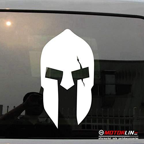 SUPERSTICKI Sparta Helm Spartaner Ritter 20 cm Aufkleber Autoaufkleber,Wandtattoo Profi-Qualität für Lack,Scheibe,etc.Waschanlagenfest