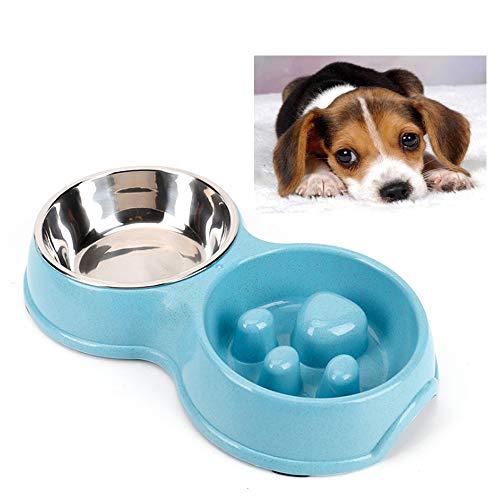 Medium Rosewood Heavy Duty Anti Scoff Melamine Slow Feeder Bowl for Dogs