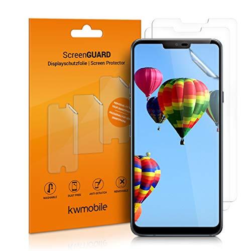 kwmobile 3X Folie kompatibel mit LG G7 ThinQ/Fit/One - klare Bildschirmschutzfolie Bildschirmschutz kristallklar Bildschirmfolie Schutzfolie