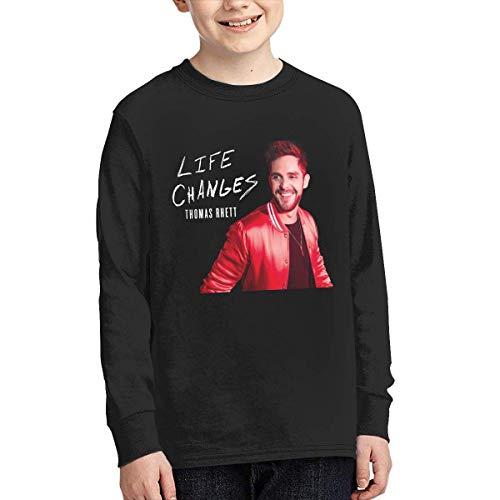 Sunyuer Youth Thomas Rhett Life Changes Music Band Otoño Camiseta de Manga Larga Regalos de Moda para Adolescentes