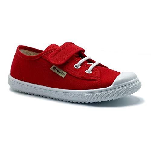 Zapatillas de Lona para niña y niño/Bambas Infantiles con aromaterapia antimosquitos/Calzado Infantil con Cierre de Velcro y Cordones elásticos/fabricacion en España