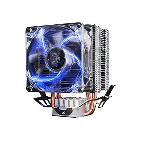 LLRZ Centilador CPU CPU Cooler 12V Placa Base Sync 80 mm PWM Ventilador 4pin Cooler 4 HEATPIPES Auto CPU Refrigerador de Aire Socket Universal Socket CPU Ventilador Sistema Refrigeración