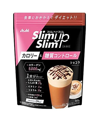 アサヒグループ食品 スリムアップスリム シェイクショコラ 360g × 10個セット