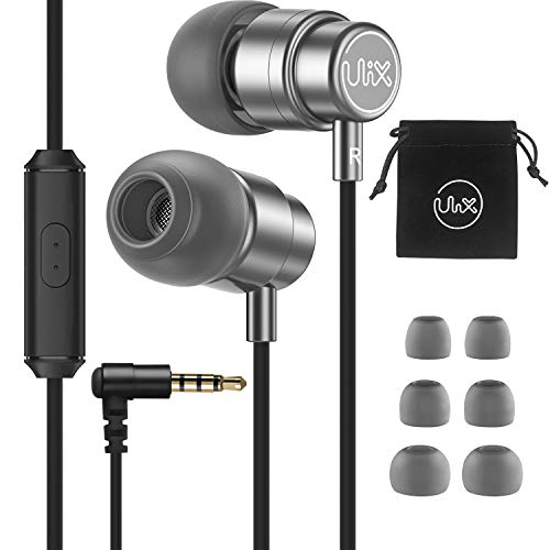 Earphones-Headphones-Wired-Earbuds-Microphone, ULIX Rider in-Ear Earphones with Mic, Extra-Resistant, 48 Ω Dynamic Driver, Crystal Clear Audio and Intense Bass, Light Headphones for iPhone, Computer