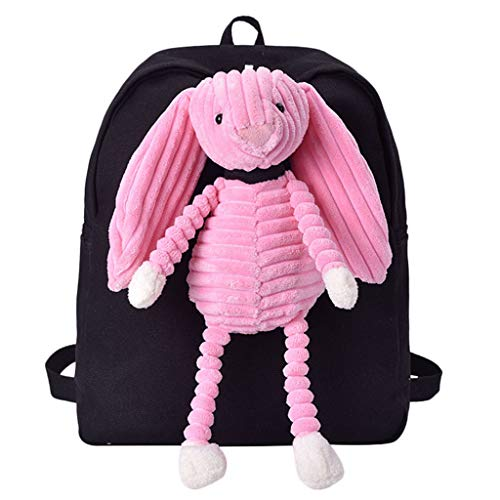 Leedy, zaino da donna da studente, borsa a tracolla in peluche, Cartoon-Puppe, casual, da ragazza, per la scuola, per le escursioni, il viaggio, il campeggio, (b), Taglia unica