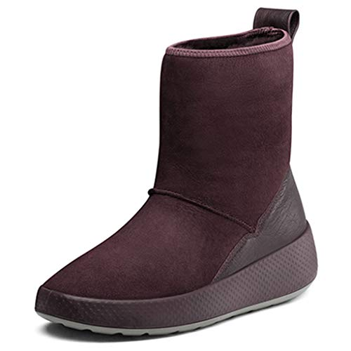 Snow Boots Fur one Female Winter Warm Boots Women Waterproof Walking Shoes Non-Slip Casual Shoes Outdoor (Color : Red, Size : 39)