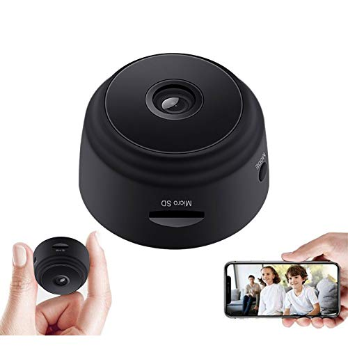 Mini Cámara, Full HD 1080P WiFi Mini Cámara Espía Inalámbrica con Visión Nocturna por Infrarrojos Cámara Vigilancia Gran Angular Portátil 150 ° para Teléfono iPhone/Android (Mini Camera)