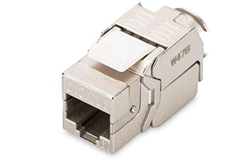 DIGITUS Keystone-Modul Cat-6A Geschirmt - RJ45-Buchse - 500 MHz 10GBase-T - AWG 26-22 - Werkzeugfreie Montage