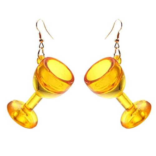 ERQINGH Charm-Ohrringe Ästhetische Frauen Schmuck Klar Und Transparent Acryl Kreative Weinglas Ohrringe Anhänger Party Geschenke