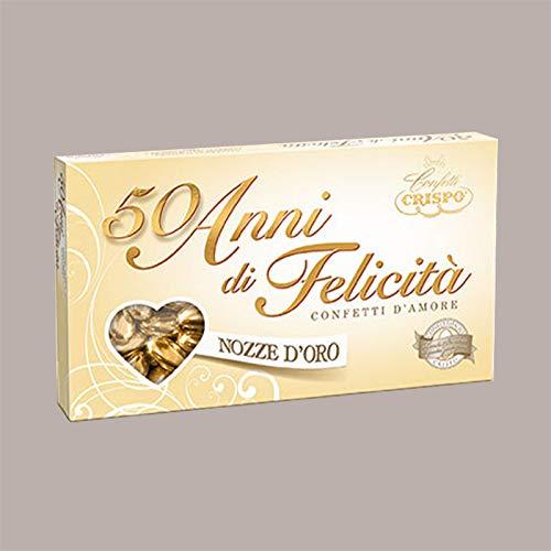 Lucgel Srl 500 gr Confetti d' Amore Nozze d' Oro con Mandorla per Cerimonia