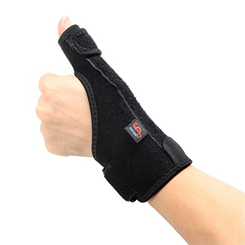 FJROnline - Muñequera con soporte para pulgar para recuperación de alta velocidad, alivio del dolor, tendinitis de artritis, se adapta a hombres y mujeres