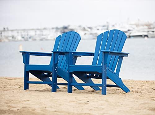 LuXeo LUX-1518-NAVY(2 Pack) Hampton Adirondack Chair,...