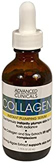 Advanced Clinicals Collagen Instant Plumping Serum for Fine Lines and Wrinkles. 1.75 Fl Oz. by Advanced Clinicals