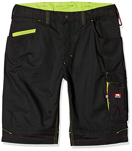 Bullstar Herren Ultra Arbeitsshorts, Schwarz (Schwarz 100), Large (Herstellergröße: 52)
