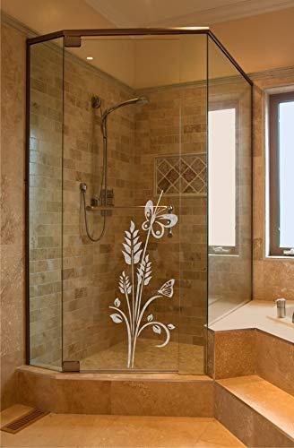 rs-interhandel® Sichtschutz Aufkleber Folie Glasdekorfolie Bad Dusche Duschwand Badezimmer Glasdekor Ornament BD131