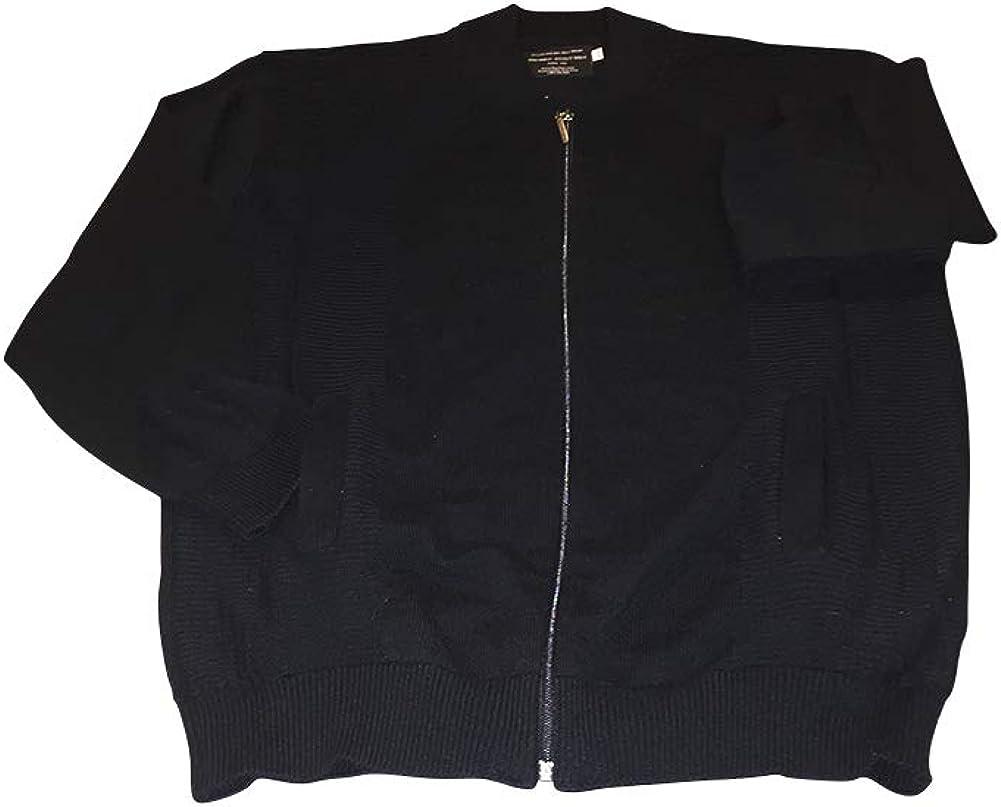 Big and Tall Ultra Luxury Wool Blend Zippered Cardigan