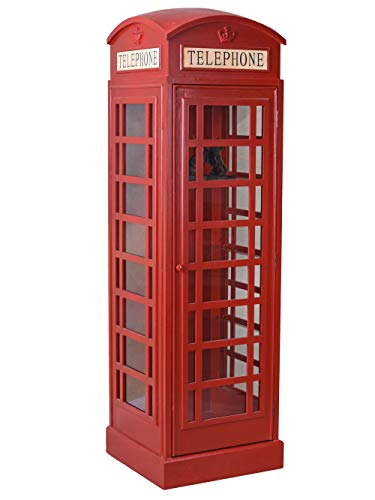 Grosse Vitrine Englische Telefonzelle rot Schrank Barschrank frf080 Palazzo Exclusiv