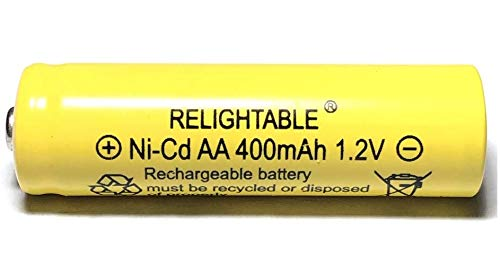 RELIGHTABLE 400mAh AA NiCd 1.2v Rechargeable Batteries Garden Solar Ni-Cd Light LED F (Pack of 12)