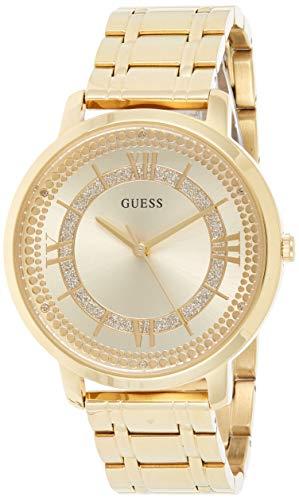 Guess Damen Analog Quarz Uhr mit Edelstahl Armband W0933L2