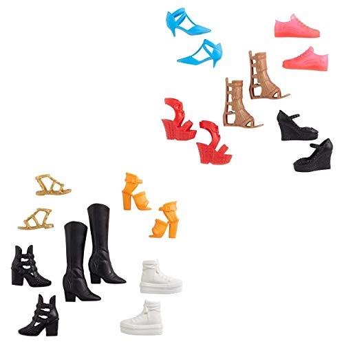 Barbie Fashion Pack – GXG02 – Lot di 5 scarpe per bambola