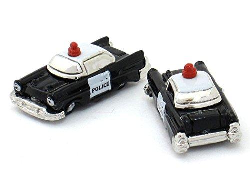 Unbekannt Polizei Manschettenknöpfe Fahrzeug: Polizeiauto Police car Plus Geschenkbox
