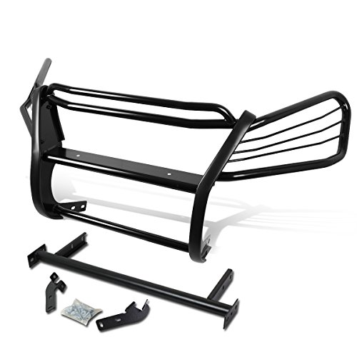 Replacement for 07-11 Honda CRV RE Front Bumper Protector Brush Grille Guard (Black)