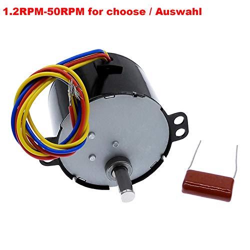 CCW AC220V 5-50RPM Miniatur Low Speed Große Moment der Kraft Synchronmotor CW