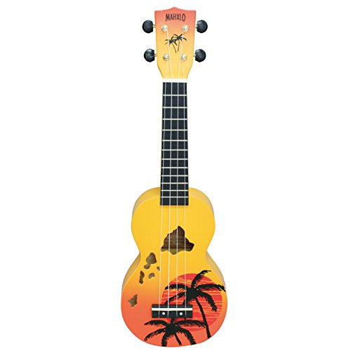 Mahalo Ukuleles Mahalo Designer Series Ukulele, Right Handed, Orange Burst, Soprano (MD1HA orb)