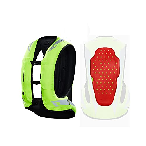 Chaleco De Airbag Inflable Chaleco De Motocicletas Para Hombres Ropa De Tela 600D, Con Cinturón Reflectante. Selección De Regalos Para Deportes Deportivos Al Aire Libre (Sin Cartucho De Tinta CO2) Equ