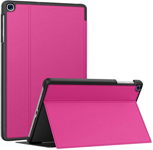 Soke Funda para Samsung Galaxy Tab A 10.1 2019 (SM-T510/T515), con función atril, ultra ligera, de poliuretano termoplástico, color rosa