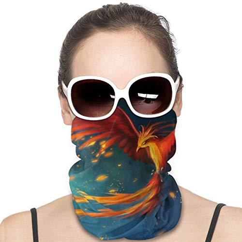 Ultra Soft Face Masks, Men Women Anti Dust Breathable Neck Gaiter, Fantasy Phoenix Bird Flying Headband Neck Buff for Snowboard Running