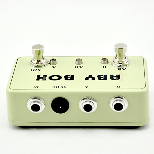 NEW Guitar ABY Switcher Effect Stomp Pedal Box for Electric Guitar True Bypass Yellow
