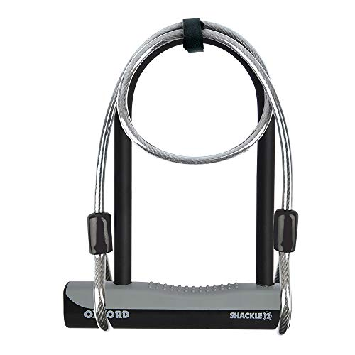 Oxford U-Lock and Cable Essential Shackle Lock - Black, 32