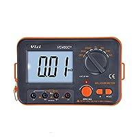 工業用計測器 デジタルミリオームメーター 3 1/2 LCDバックライト付き 4線式テスト 低抵抗マルチメーター 6レンジ 0.01mΩー2kΩ精度測定器 VC480C+ 抵抗、変圧器、モーターコイル、PCBのため 敏感でより速く