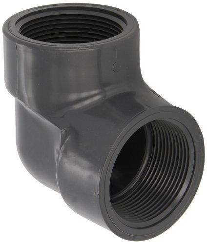 Gray Thread on One End Schedule 80 2 Length Nipple Spears 188N Series PVC Pipe Fitting 2 NPT Male x Socket
