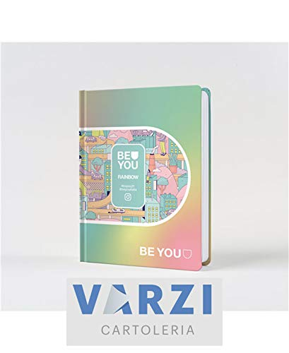 BE-YOU DIARIO AGENDA EASY COLOR 2020/2021 Rainbow Arcobaleno - SELEZIONE CARTOLERIA VARZI 1956