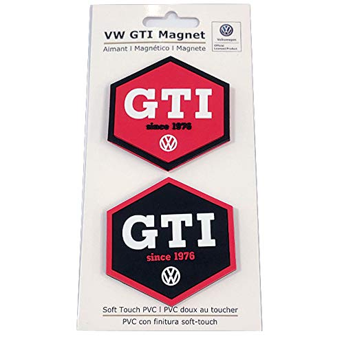 BRISA VW Collection - Volkswagen Golf GTI Rubber Magnet 2er Set - rot/schwarz- Auto Zubehör, Accessories, Original