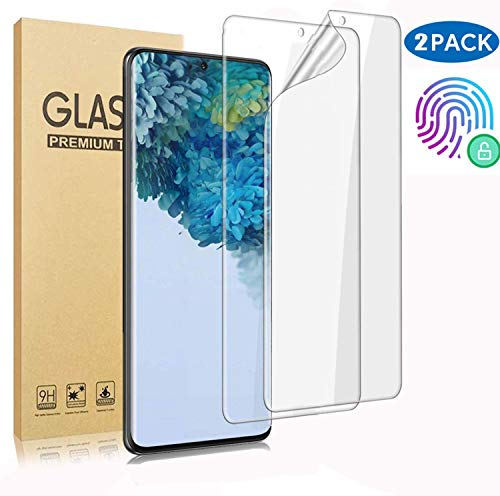 Samsung Galaxy S10 Displayschutzfolie, [2er Pack] Neue Version, Fingerprint Compatible, Premium Film - Not Glass, Case-Friendly TPU Ultra HD-Film,Screen Protectors for Samsung Galaxy S10