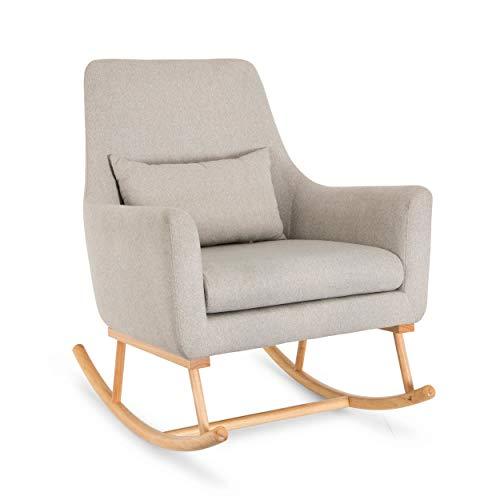 Oscar Rocking Chair - Tutti Bambini - Nursing Breastfeeding Rocker Chair in Pebble Grey