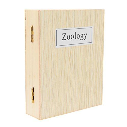 TS-Optics 25 Stück vorgefertigte Dauerpräparate Zoologie in Holzbox mit deutscher Beschriftung für Mikroskope, experimentierset Tsmdpz
