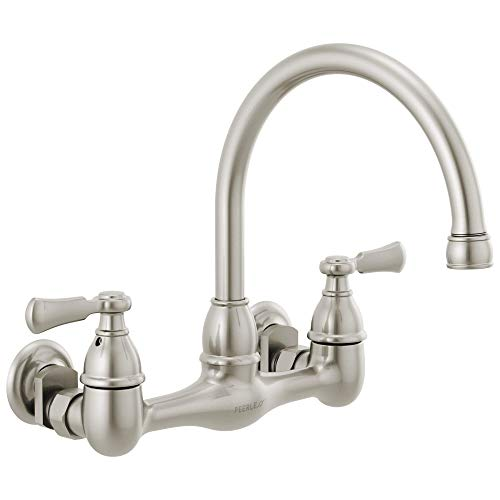 Peerless P2765LF-SS Elmhurst Two-Handle Kitchen Faucet Wall-Mount, Brushed Nickel