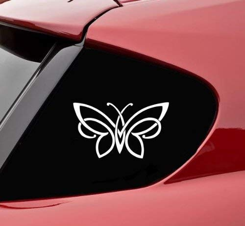 FAM-Celtic Knot Butterfly Die Cut Vinyl Decal For Cars, Trucks, Windows, Walls, Laptops, And Other Stuff, White