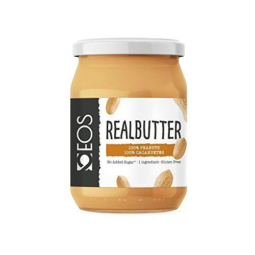 EOS - Crema de Cacahuete Suave - Mantequilla de Cacahuete Natural 500 g