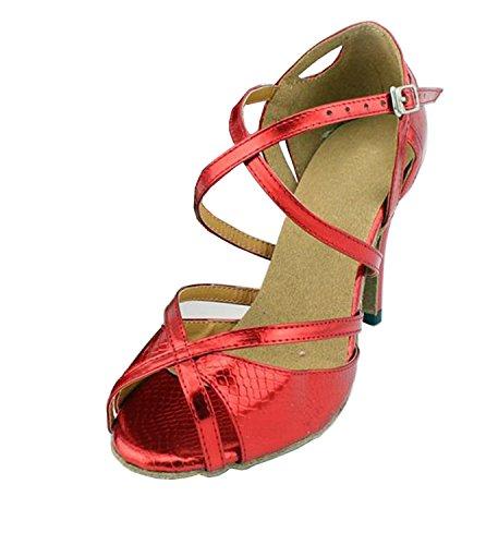 Minitoo ,  Damen Tanzschuhe , rot - rot - Größe: 38