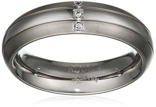 Boccia Damen-Ring Titan Diamant weiß, Gr. 55 (17.5) - 0131-0355