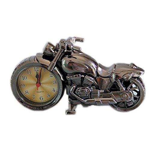 Original Black Motorrad Clock Nacht Wecker Desktop Clock