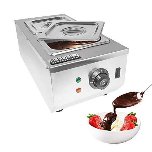 ALDKitchen Chocolate Melting Pot | Manual Control Chocolate Melter for Home or Bakery Use | 2 Tanks for 4 kg of Tempered Chocolate | 110V | 1kW